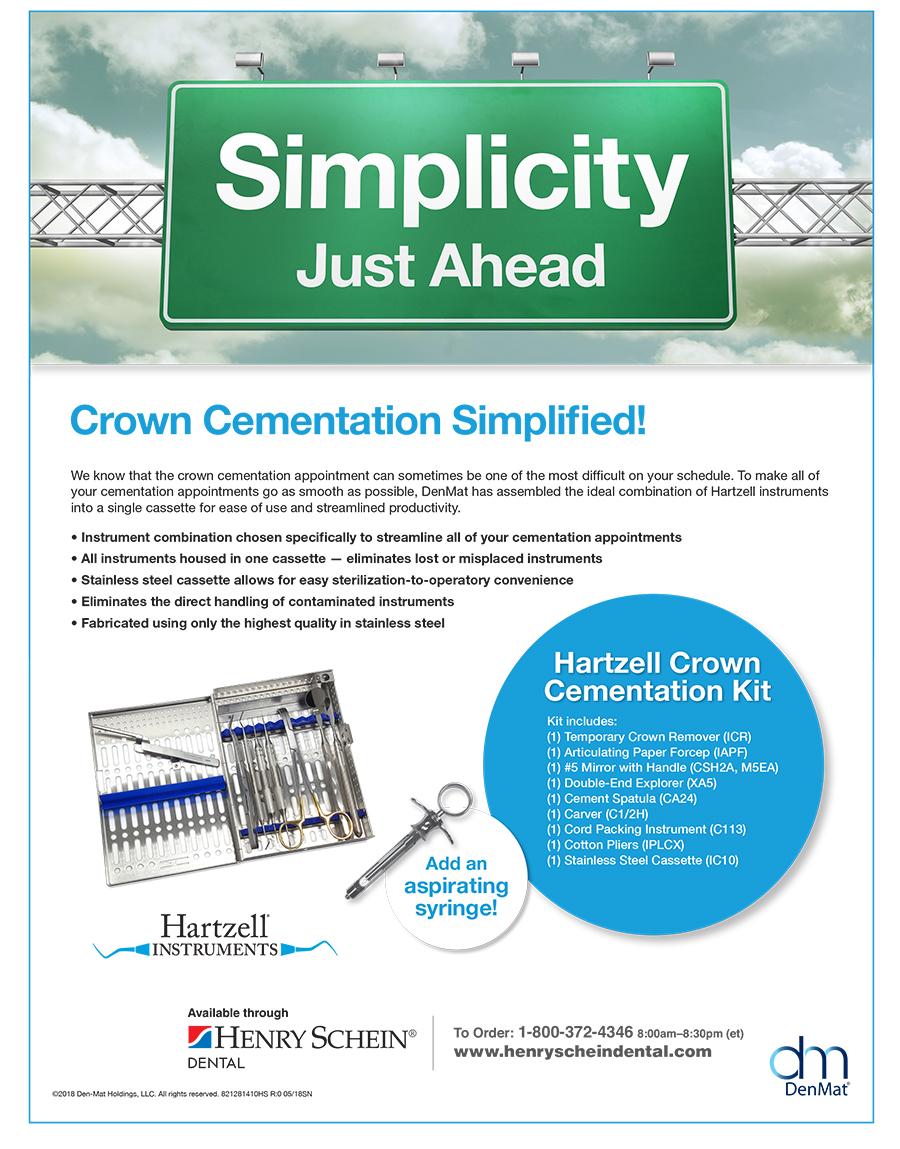 Hartzell Crown                                                     Cementation Kit